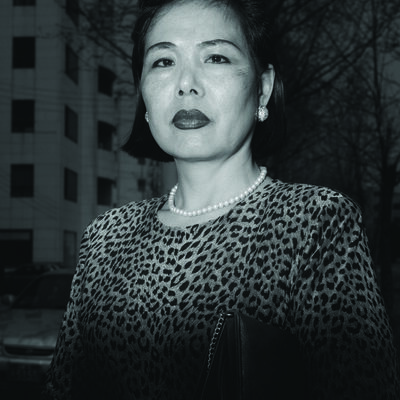 Heinkuhn Oh, 'Ajumma wearing a tiger fur print dress, March 27 ', 1997