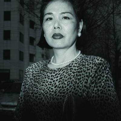 Heinkuhn Oh, 'Ajumma wearing a tiger fur print dress, March 27 ', 1997