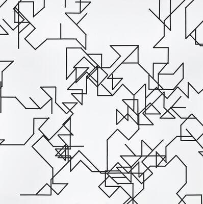 François Morellet, 'π piquant n°131=45°3000 décimales (détail)', 2004