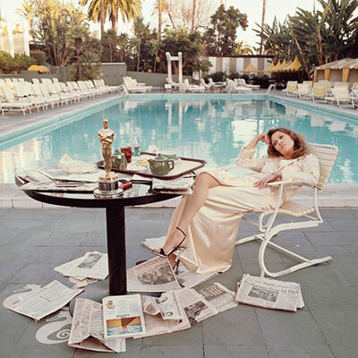 Terry O'Neill, 'Faye Dunaway Oscar, Beverly Hills Hotel, CA', 1977