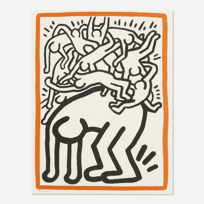 Keith Haring, 'Untitled (Fight AIDS Worldwide)'
