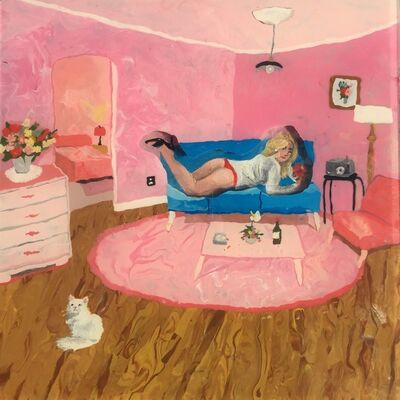 Mia Darling, 'Pink Room, White Cat', 2019