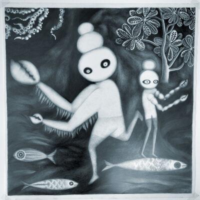 Andrea Dezsö, 'Night Drawings: Lobsterman and Small Crabman', 2013