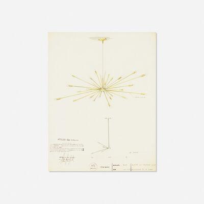 Gino Sarfatti, 'drawing for ceiling light, model 2003', 1939
