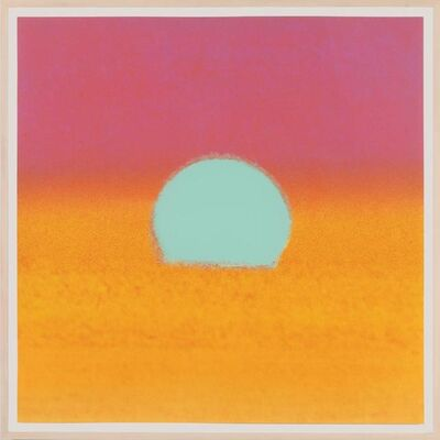 Andy Warhol, 'Sunset (Unique) (Turquoise/Pink/Yellow)', 1972