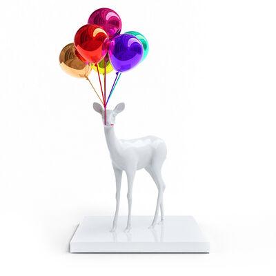 Paco Raphael, 'Bunch of Balloon Bambi (White)', 2020