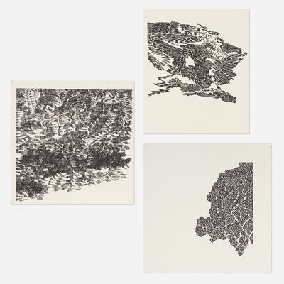 Bruce Conner, '#109, #101, #205 (three works)', 1970-71