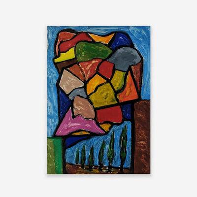 Italo Scanga, 'Untitled, Row of Cypress', 1988