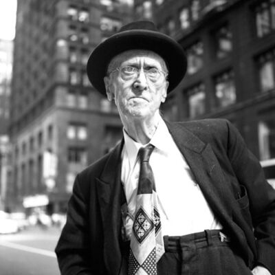 "Vivian Maier, '0131521 - Untitled, n.d, Old Man with Tie, 12"" X 12""', Printed 2017"