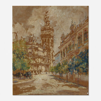 Colin Campbell Cooper, 'Giralda Tower, Seville', 1923