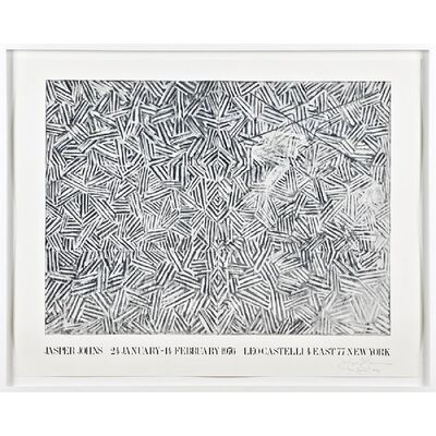 Jasper Johns, 'Jasper Johns at Leo Castelli (Hand signed and dated at the opening) ', 1976