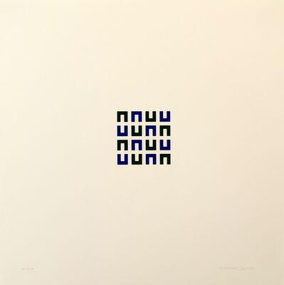 Vera Molnar, '16 Elements vert et bleu ', 1960-2003
