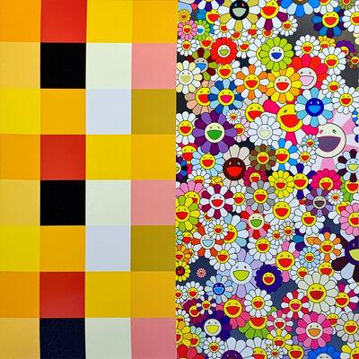 Takashi Murakami, 'akipankuchir・flowers(checkers)', 2011