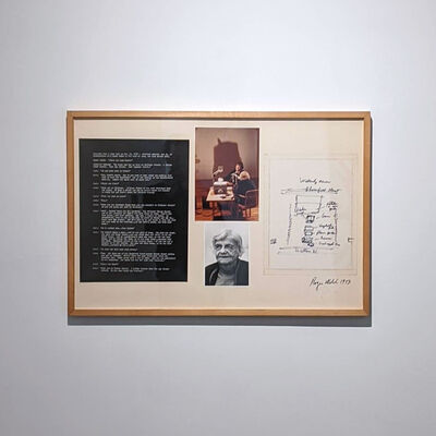 Roger Welch, 'Winifred Wakerly Memory Map, Excerpt', 1973