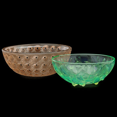 "Lalique, 'Gui no. 2 and ""Nemours"" bowls', des. 1921/1929"