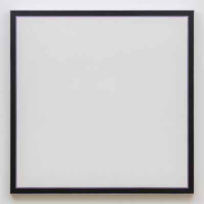 Jo Baer, 'Untitled (White Square Lavender)', 1964-1974