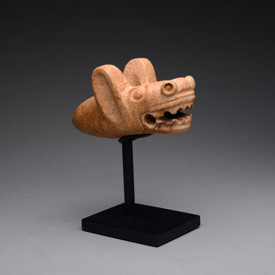Pre-Columbian, Art of Costa Rica, 'Guanacaste-Nicoya Mace Head in the Form of a Bat Head', ca. 1 AD to 500 AD