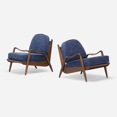 Phillip Lloyd Powell, 'New Hope lounge chairs, pair', c. 1970