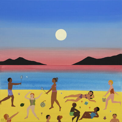 Chelsea Ryoko Wong, 'Badminton on the Beach', 2021
