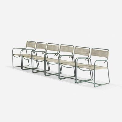 Walter Lamb, 'lounge chairs model C-1700, set of six', c. 1952