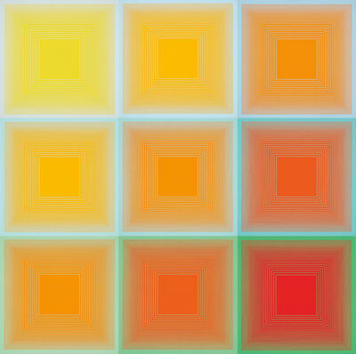 Richard Anuszkiewicz, 'Spectral 9- A Variable Multiple', 1969