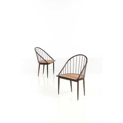 Joaquim Tenreiro, 'Cadeira Curva - Pair of chairs', 1960