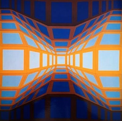 Victor Vasarely, 'Structure Universelle du Damier', 1971