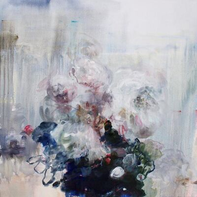 Darlene Cole, 'Entwine (white roses by the lake)', 2019