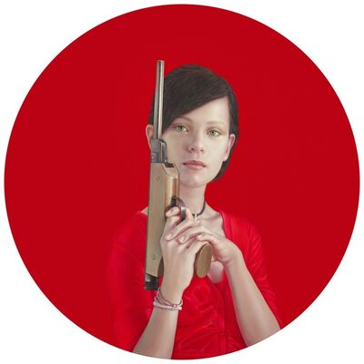 Salustiano, 'Leire Con Pistola', 2018