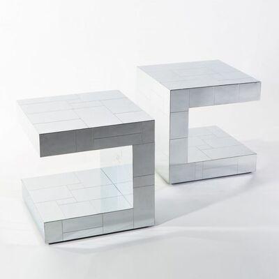 Paul Evans (1931-1987), 'Cityscape C-Shaped Side Tables', 1970