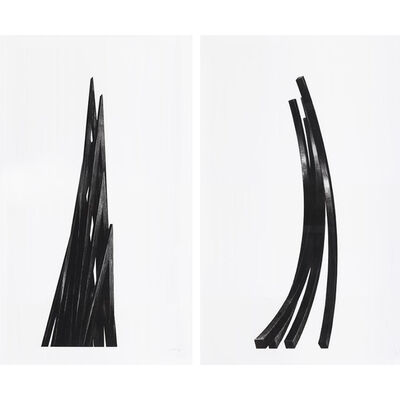 Bernar Venet, 'Arcs: Uneven Angles (Portfolio of 2)', 2017