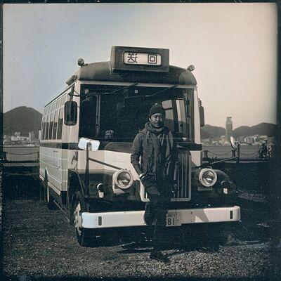 Takashi Arai, 'Self with bus, 11 April', 2020