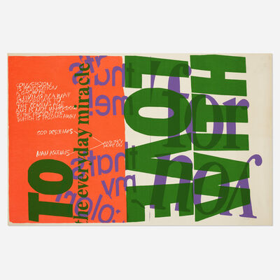 Corita Kent, 'with love to the everyday miracle', 1967