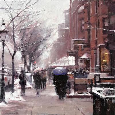 Ben Aronson, 'December Snow, Newbury Street', 2018