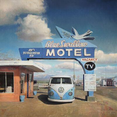 Jason Kowalski, 'Pink Stucco, Blue Neon', 2018