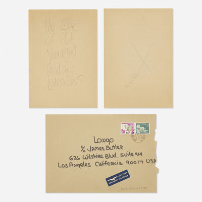 James Lee Byars, 'letter mailed to Tommy Longo', 1974