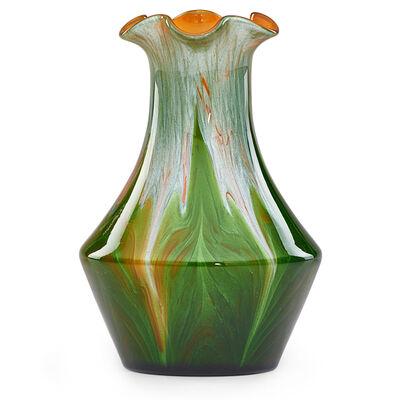 Loetz, 'Titania vase with ruffled rim', ca. 1900
