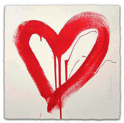Mr. Brainwash, 'LOVE HEART (RED)', 2017