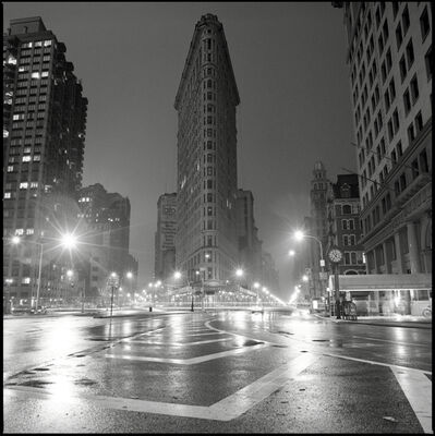 David Corio, 'Flat Iron Building at Night, 23rd Street, 5th Ave & Broadway NYC', 1992