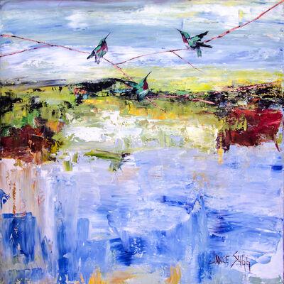 Janice Sugg, 'Three Hummingbirds', 2019