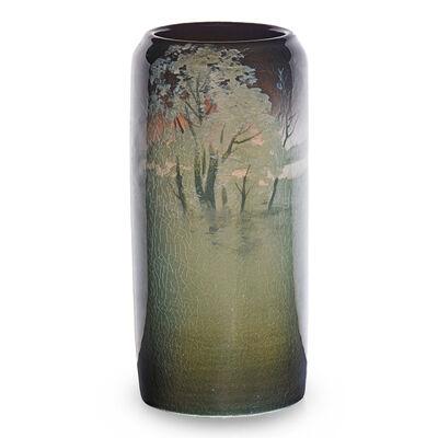 Rookwood Pottery, 'Scenic Iris Glaze vase', 1907