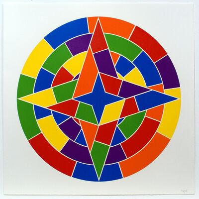 Sol LeWitt, 'Tondo 2 (4 point star)', 2002