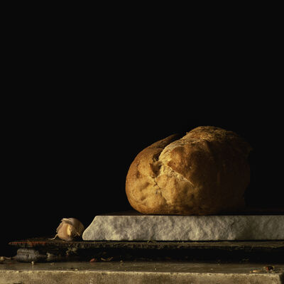 Paul Cary Goldberg, 'Still Life with Bread and Garlic Clove'