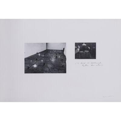 Jannis Kounellis, 'Lo faro il letterato, Tutta la vita', 1972