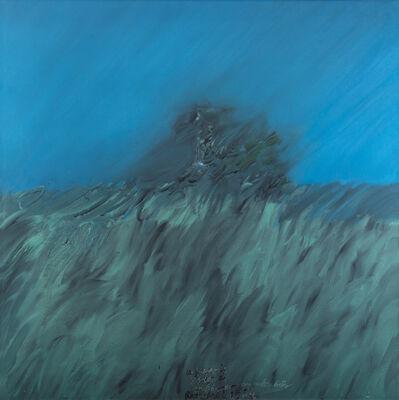 Mattia Moreni, 'Un pezzo di argine di san Giacomo con un albero dietro', 1964