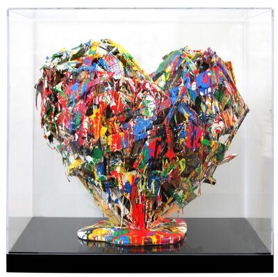 Mr. Brainwash, 'Brush Heart', 2017