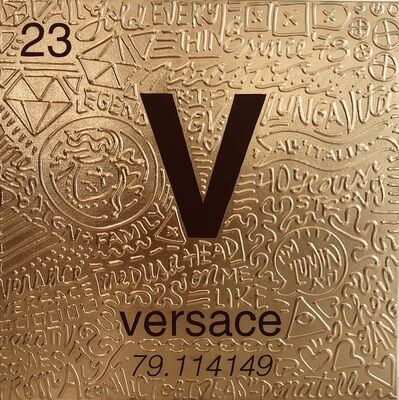 Cayla Birk., 'Periodic Table of Relevance Series: VERSACE', 2018