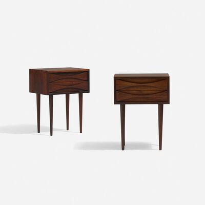 Arne Vodder, 'nightstands, pair', c. 1960