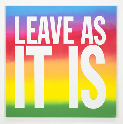 John Giorno, 'LEAVE AS IT IS', 2018