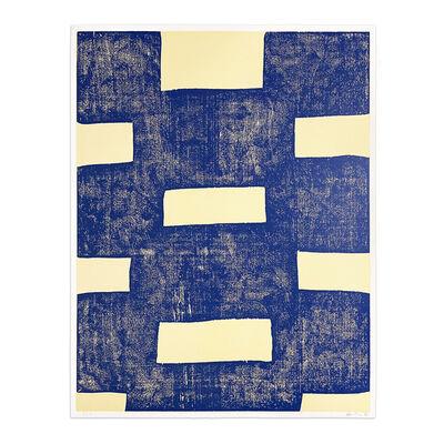 Günther Förg, 'Untiled (Blue Woodcut)', 1990